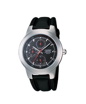 Casio Edifice 3 Eye Leather Watch