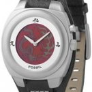 Mens Fossil Dragon Animation Big Tic Leather Watch 8198