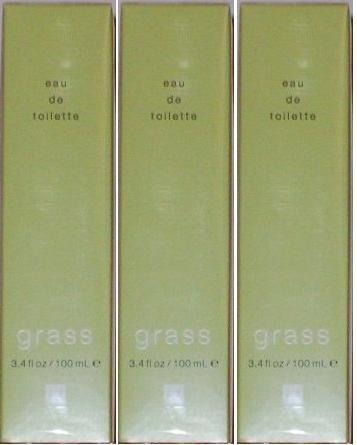 3 x GAP GRASS EAU DE TOILETTE MADE IN USA FACTORY SEALED FULL SIZE 100 ML / 3.4 OZ