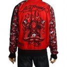 NEW ED HARDY MEN TIGER SKULL SNAKES SWORD JACKET SZ XXL
