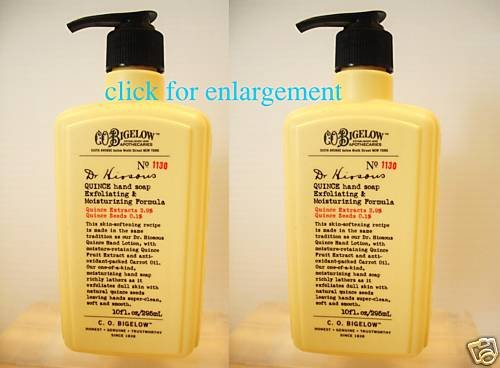 2 x BATH BODY WORKS BIGELOW QUINCE HAND SOAP FULL SIZE