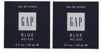 2 X GAP BLUE FOR HIM NO 655 EDT PERFUME MEN 50 ML/ 2 OZ
