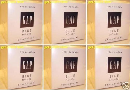 6 NEW GAP BLUE FOR HER NO 655 EDT PERFUME PARFUME 50 ML