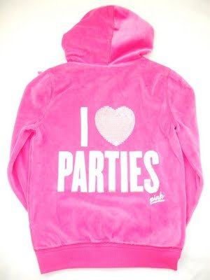 NEW VICTORIA SECRET PINK BLING VELOUR PARTIES HOODIE M