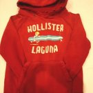 HOLLISTER MEN SWEATSHIRT HOODIE RED JACKET FLEECE S