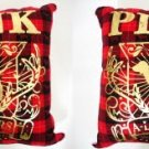 2 x VICTORIA SECRET PINK RED PLAID A-LISTERS PILLOW NEW