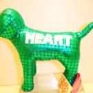 NEW VICTORIA SECRET PINK METALLIC MINI DOG TEAL HEART