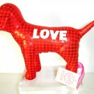 NEW VICTORIA SECRET PINK METALLIC MINI DOG RED LOVE 09