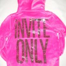 VICTORIA SECRET PINK BLING INVITE ONLY HOODIE W/FUR XS