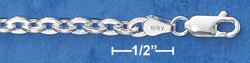 """STERLING SILVER 20"""" CABLE CHAIN (4MM) (cable100)"""