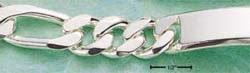 """STERLING SILVER JEWELRY 9"""" 350 FIGAROA ID BRACELET  (br328)"""