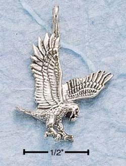 Sterling Silver bird of prey charm ( CH-27 )