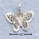 Sterling Silver JEWELRY small dc butterfly charm ( CH-26 )