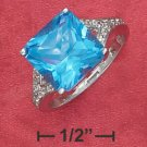 Sterling Silver 11mm square syn blue topaz ( sr2350 )
