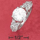 Sterling Silver 9mm round CZ ring ( sr2370 )