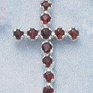STERLING SILVER JEWELRY MULTIPLE ROUND GARNET STONE ( cr151 )