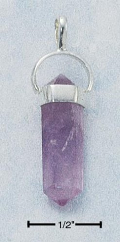 STERLING SILVER JEWELRY SM AMETHYST QUARTZ POINTED ( cx243 )