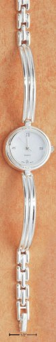 STERLING SILVER STAMPATO LINK WATCH ( WA27 )