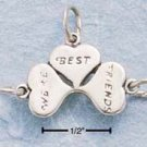 "STERLING SILVER JEWELRY ""WE'RE BEST FRIENDS"" CHARM (ch354)"