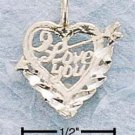 "STERLING SILVER JEWELRY DC ""I LOVE YOU"" (ch49)"