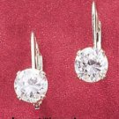 6MM ROUND CUBIC ZIRCONIA LEVERBACK EARRINGS (ea1955)