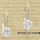 STERLING SILVER 5MM ROUND CZ LEVERBACK EARRINGS (ea450)