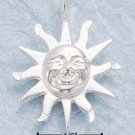 STERLING SILVER JEWELRY DC SMILING SUN CHARM (ch101)