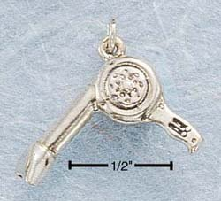 STERLING SILVER JEWELRY HAIRDRYER CHARM (ch398)