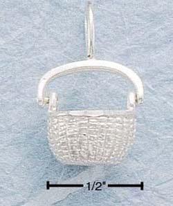 STERLING SILVER JEWELRY OPEN NANTUCKET BASKET CHARM (ch99)