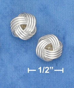 STERLING SILVER 10 MM KNOT POST EARRINGS  (ep635)