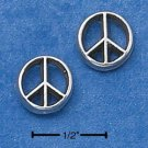STERLING SILVER PEACE SIGN MINI-POST EARRINGS  (ep574)