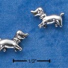 STERLING SILVER WALKING PUPPY POST EARRINGS  (ep568)