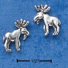 STERLING SILVER MOOSE MINI-POST EARRINGS  (ep564)