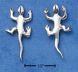 STERLING SILVER LIZARD POST EARRINGS  (ep558)