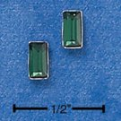 STERLING SILVER EMERALD CUT MAY BIRTHSTONE AUSTRIAN CRYSTAL POST EARRINGS  (ep544)