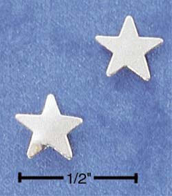 STERLING SILVER SMALL STAR POST EARRINGS  (ep528)