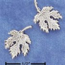 STERLING SILVER MAPLE LEAF POST EARRINGS  (ep526)