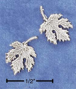 STERLING SILVER MAPLE LEAF POST EARRINGS  (ep526)