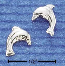 STERLING SILVER HP DOLPHIN POST EARRINGS  (ep310)