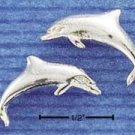 STERLING SILVER HP LARGE DOLPHIN POST EARRINGS  (ep303)