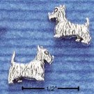STERLING SILVER SCOTTIE DOG POST EARRINGS  (ep273)