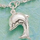STERLING SILVER CABLE ANKLET WITH CHUBBY DOLPHIN  (br441)