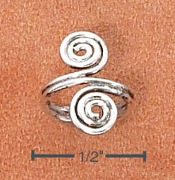 STERLING SILVER FIGURE 8 SWIRL EAR CUFF  (sc110)