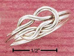"STERLING SILVER JEWELRY  ""SLIP KNOT"" THUMB RING SIZES 8-10 (sr1143)"
