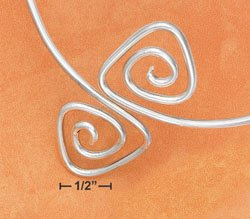 STERLING SILVER JEWELRY TRIANGULAR SPIRAL ARM BAND  (br2743)