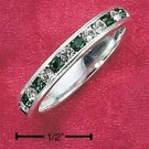 STERLING SILVER JEWELRY CZ & SYNTHETIC EMERALD MAY ETERNITY BAND (5-9) (sr80)