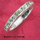 STERLING SILVER JEWELRY CZ & SYNTHETIC PERIDOT AUGUST ETERNITY BAND (5-9) (sr83)