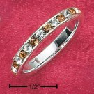 STERLING SILVER JEWELRY CZ & SYNTHETIC CITRINE NOVEMBER ETERNITY BAND (5-9) (sr87)