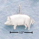 STERLING SILVER JEWELRY FLAT PIG CHARM (ch11)
