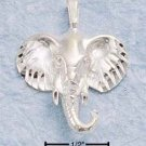 STERLING SILVER JEWELRY DC ELEPHANT HEAD CHARM (ch164)